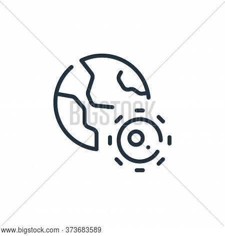 earth icon isolated on white background from coronavirus collection. earth icon trendy and modern ea