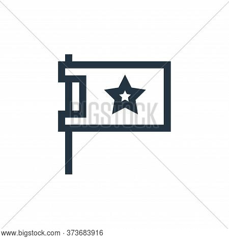 flag icon isolated on white background from feedback and testimonials collection. flag icon trendy a