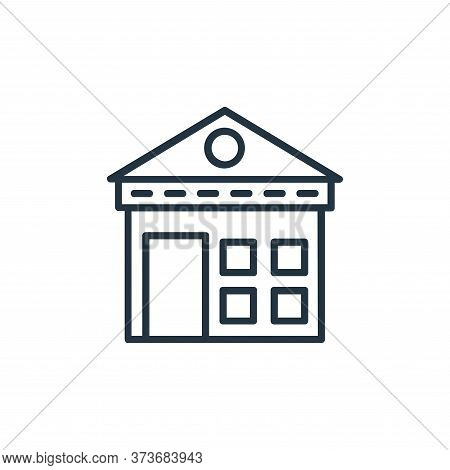 warehouse icon isolated on white background from shopping line icons collection. warehouse icon tren