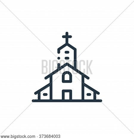 church icon isolated on white background from in the village collection. church icon trendy and mode