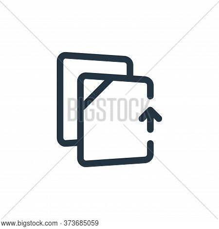 upload file icon isolated on white background from file and archive collection. upload file icon tre