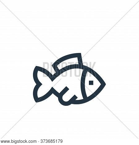 fish icon isolated on white background from pet shop collection. fish icon trendy and modern fish sy