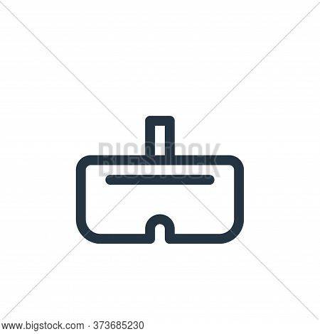 vr glasses icon isolated on white background from virtual reality collection. vr glasses icon trendy
