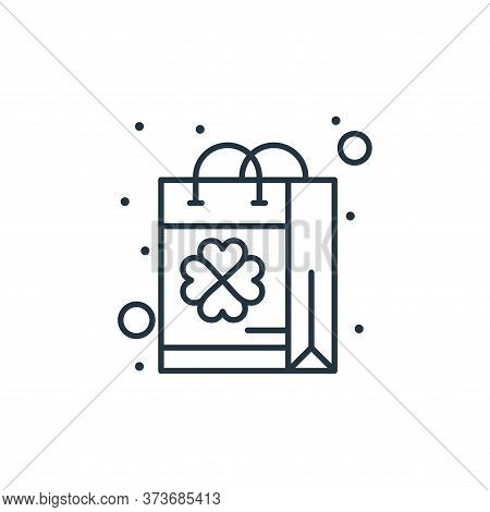 bag icon isolated on white background from saint patrick collection. bag icon trendy and modern bag