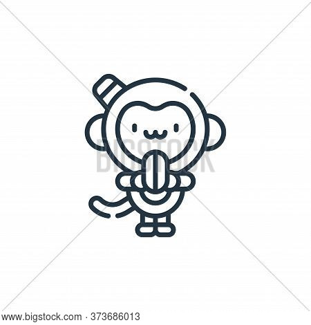 monkey icon isolated on white background from circus collection. monkey icon trendy and modern monke