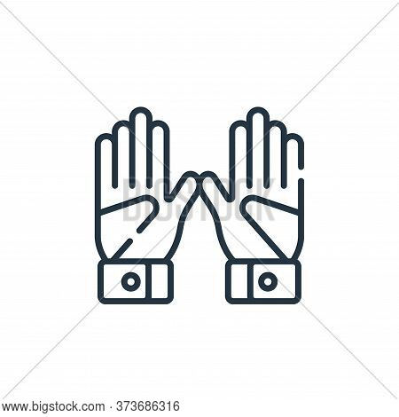 gloves icon isolated on white background from baseball collection. gloves icon trendy and modern glo