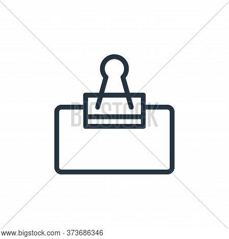 clip icon isolated on white background from school collection. clip icon trendy and modern clip symb