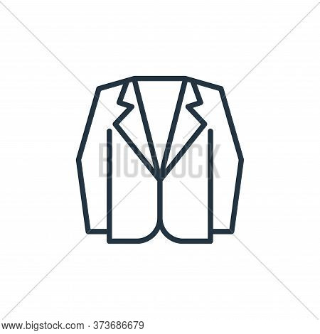 suit icon isolated on white background from wardrobe collection. suit icon trendy and modern suit sy