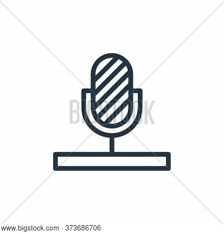 microphone icon isolated on white background from hobbies collection. microphone icon trendy and mod