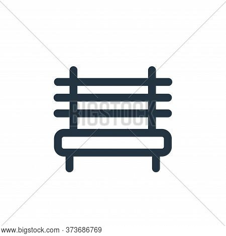 bench icon isolated on white background from landscaping equipment collection. bench icon trendy and
