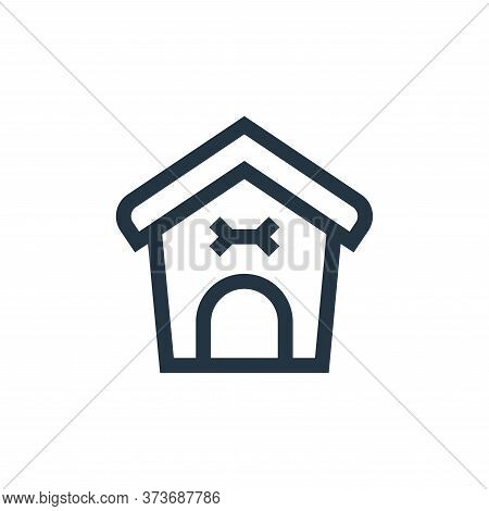 Dog house icon isolated on white background from pet shop collection. Dog house icon trendy and mode