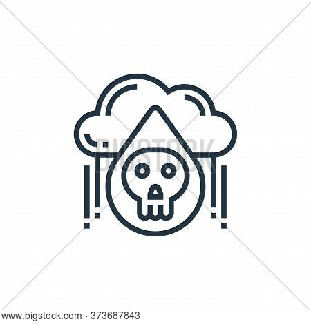 acid rain icon isolated on white background from climate change collection. acid rain icon trendy an