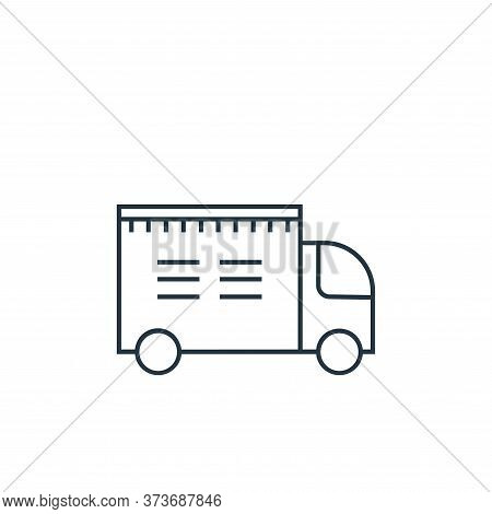delivery truck icon isolated on white background from online shopping collection. delivery truck ico
