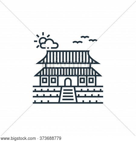 chinese temple icon isolated on white background from tourism collection. chinese temple icon trendy