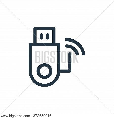 usb drive icon isolated on white background from electronics collection. usb drive icon trendy and m