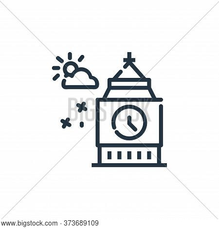 big ben icon isolated on white background from world monument collection. big ben icon trendy and mo