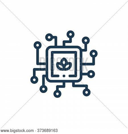 processor icon isolated on white background from smart farm collection. processor icon trendy and mo