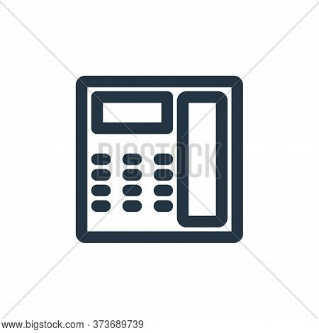 telephone icon isolated on white background from marketing business collection. telephone icon trend
