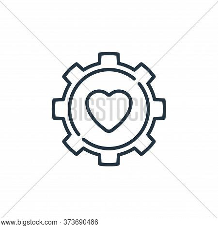gear icon isolated on white background from life skills collection. gear icon trendy and modern gear