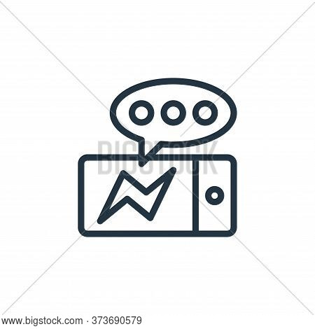 messenger icon isolated on white background from contact collection. messenger icon trendy and moder
