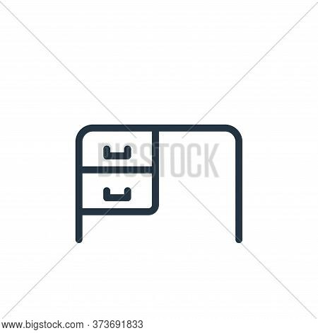 desk icon isolated on white background from work office supply collection. desk icon trendy and mode