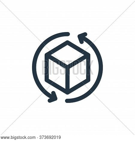 d icon isolated on white background from virtual reality collection. d icon trendy and modern d symb