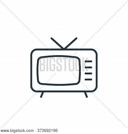 television icon isolated on white background from cinema collection. television icon trendy and mode