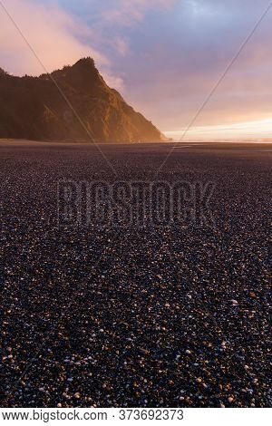 Sunset Colors And Cape Sebastian, Oregon