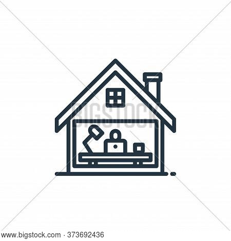 working at home icon isolated on white background from stay at home collection. working at home icon