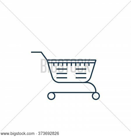 shopping cart icon isolated on white background from online shopping collection. shopping cart icon