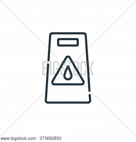 wet floor icon isolated on white background from signals and prohibitions collection. wet floor icon