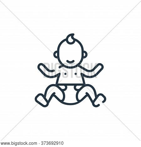 baby icon isolated on white background from maternity collection. baby icon trendy and modern baby s