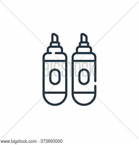 markers icon isolated on white background from children toys collection. markers icon trendy and mod
