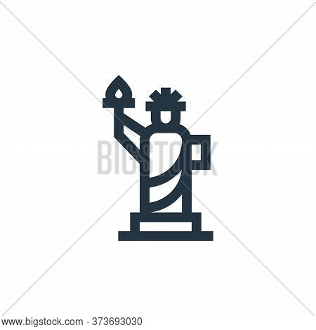 Statue Of Liberty Vector Icon From United States Of America Collection Isolated On White Background