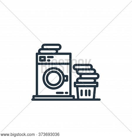 washing machine icon isolated on white background from stay at home collection. washing machine icon