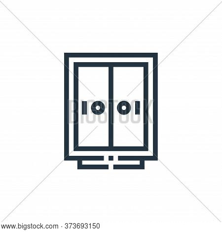 Closet Vector Icon From Inside Home Collection Isolated On White Background