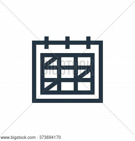schedule icon isolated on white background from management collection. schedule icon trendy and mode