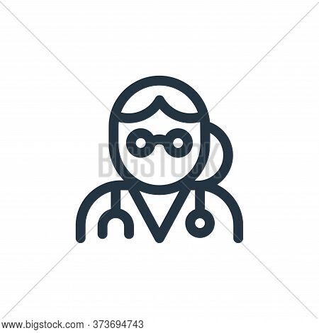 doctor icon isolated on white background from health collection. doctor icon trendy and modern docto