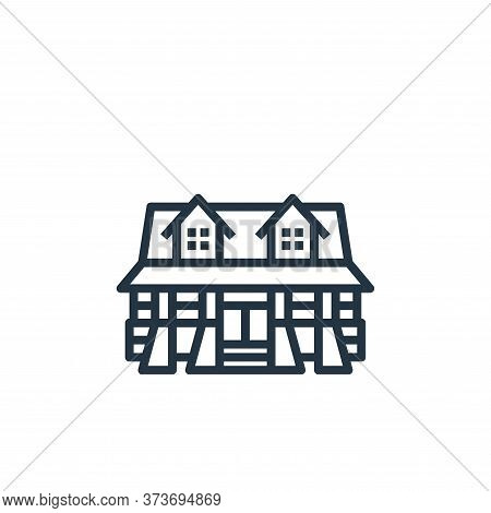 cabin icon isolated on white background from camping collection. cabin icon trendy and modern cabin