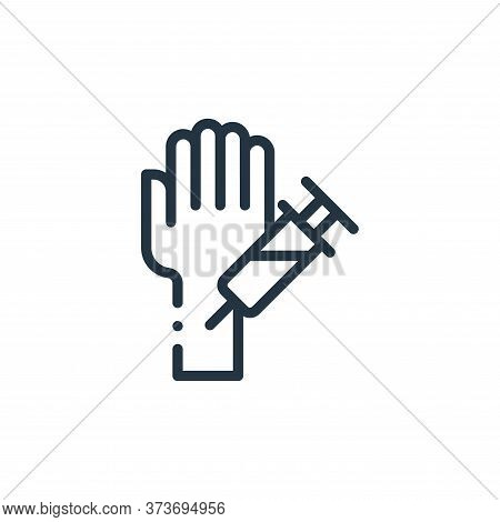 hand icon isolated on white background from medicine collection. hand icon trendy and modern hand sy