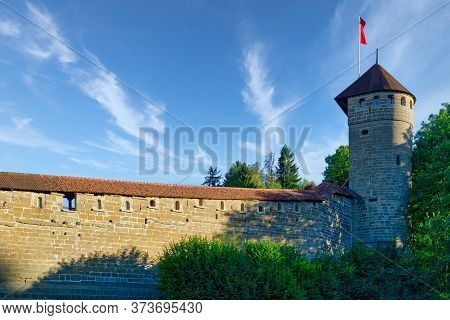The Fortifications Of The City Of Fribourg (freiburg) Built In The Middle Ages, Switzerland