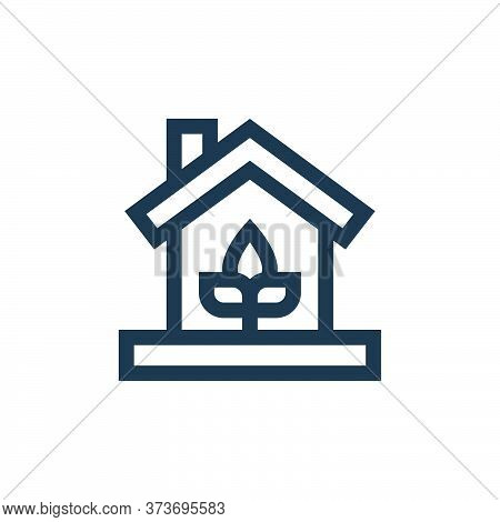 eco house icon isolated on white background from mother earth day collection. eco house icon trendy