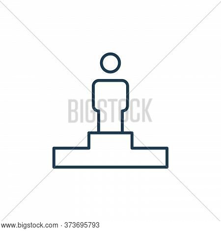 podium icon isolated on white background from leadership collection. podium icon trendy and modern p