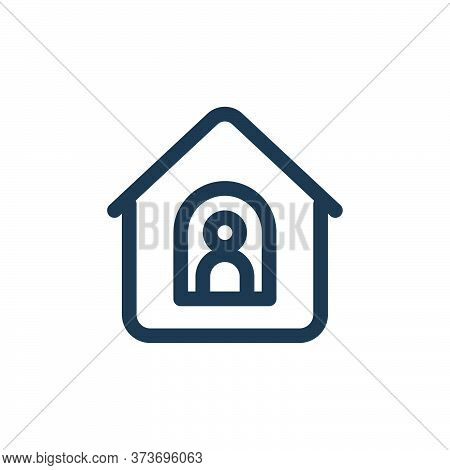 stay home icon isolated on white background from coronavirus collection. stay home icon trendy and m