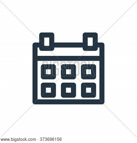calendar icon isolated on white background from holiday collection. calendar icon trendy and modern