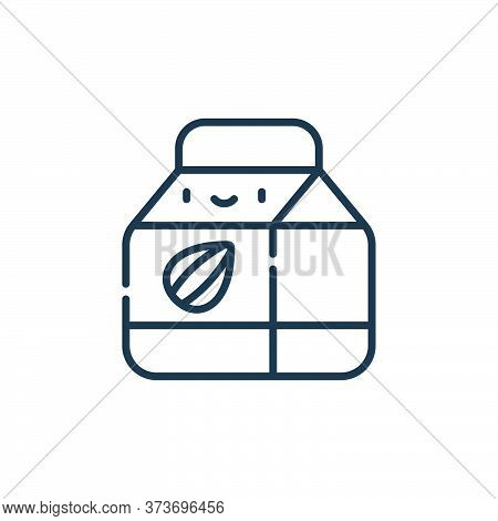 almond milk icon isolated on white background from animal welfare collection. almond milk icon trend