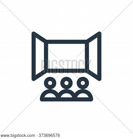 cinema icon isolated on white background from virtual reality collection. cinema icon trendy and mod