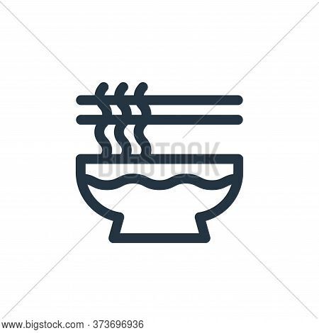 noodles icon isolated on white background from gastronomy collection. noodles icon trendy and modern