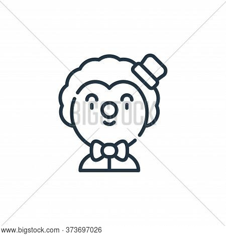 clown icon isolated on white background from circus collection. clown icon trendy and modern clown s