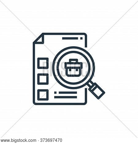 job search icon isolated on white background from human resources collection. job search icon trendy